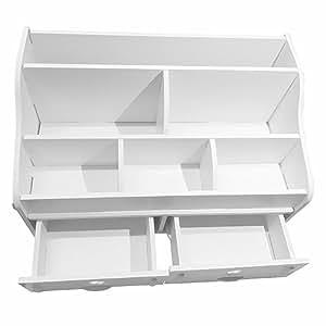 Bureau en bois, DIY organier petits objests cosmétiques boîte de rangement (avec 2tiroirs)