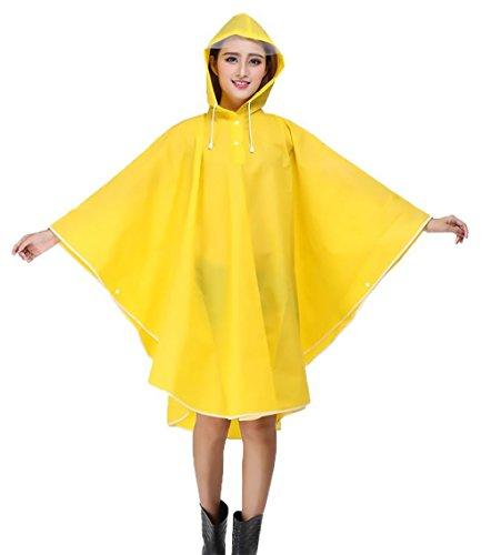 Donne Poncho Impermeabile Antivento Con Cappuccio Raincoat Cappotto Mantello Outdoor Moda Giovane Equitazione Auto Elettrica Bicicletta Rainwear Pioggia Cape Da Pioggia Gialli
