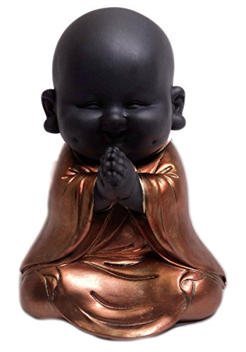 Juliana Collection Buddha-Figur, meditierend, Rotgold, Kunstharz, Rose Gold