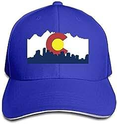 uykjuykj Baseball Caps Hats Colorado Denver Skyline Trucker Caps Unisex  Sandwich Hats Adjustable Unique Personality Cap adfefac3b65