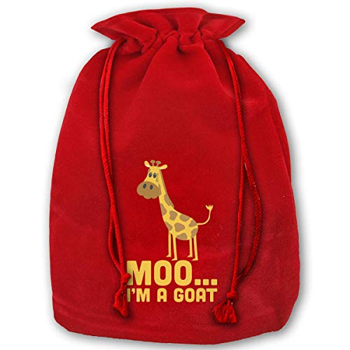 gf 3 Pack Christmas Drawstring Gift Bags Santa Sack Backpack for Party Favors and Candy, Chunky Monkey ()