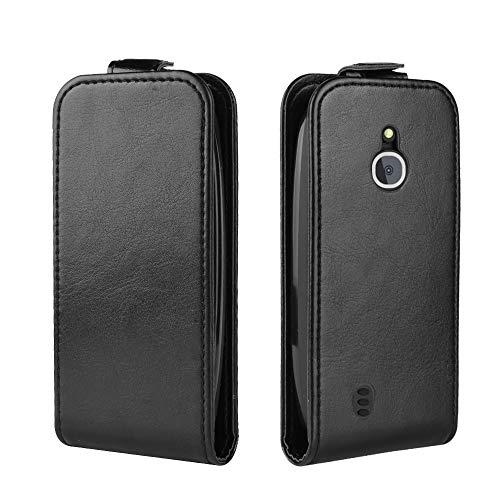 Happon Custodia Nokia 3310 3G 4G, Ultra Sottile Protettiva a Libro di Pu Pelle Case Portafoglio con Carta Fessura, Funzione Stand, Antiurto Morbido Cover per Nokia 3310 3G 4G (Black)