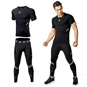 Fanceey Männer Workout Kleidung Strecken schnell trocken Kompression Strumpfhosen Sport Laufanzüge Fitness Basketball Jerseys reflektierende Outfit