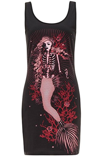 Jawbreaker Kleid SKELEMAID BODYCON DRESS 8247 Schwarz