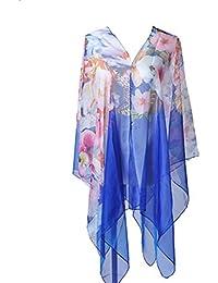 Leisial Chal de Protección Solar Larga Bikini Swimwear Cover-up Falda del Abrigo Encubrir Pareo Verano Playa Gran Tamaño Bufandas para Mujer Amarillo
