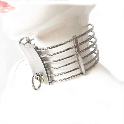 LIULIU Hals Bondage Slave Kragen Edelstahl Metall Erwachsene Kragen Sex Spiele Spielzeug Fetisch Fesseln Produkte,Male - Fetisch Kragen
