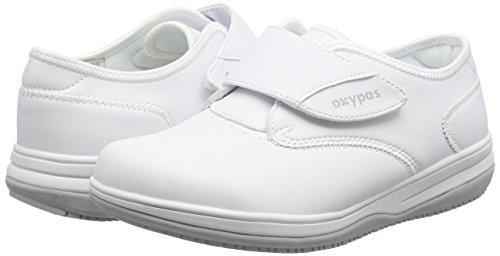 Oxypas Medilogic Emily Slip-resistant, Antistatic Nursing Shoe, Black (Blk), 5 UK (38 EU) Bianco (White)