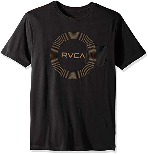 RVCA Herren Compass Short Sleeve Pocket Tee T-Shirt, schwarz, Mittel -