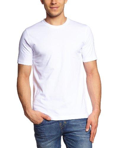 CASAMODA Herren T-Shirt 2 er Pack Comfort Fit, 4XL, Weiß - Uni