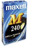 Maxell E240M Mega Power VHS Video Tapes (Pack of 10)
