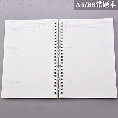 WRITIME Notizbuch A5 falsche Titel Gitter leer horizontale Linie Gitter karierten Notizbuch Schreibwaren Notizblock Handbuch