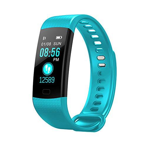 Klicop Fitness-Tracker-Uhr, Y5-Aktivitäts-Schlafschritt-Tracker, wasserdichter Herzfrequenz-Blutdruckmonitor, Bluetooth-Kalorienzähler-Pedometer Smartwatch (Farbe : T4, Size : Watch)