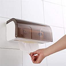 Urbancart Wall Mounted Plastic Tissue Paper Holder/Dispenser