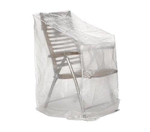 Dehner Gute Wahl Schutzhülle für Klappstühle, ca. 150 x 66 x 66 cm, Polyethylen, transparent