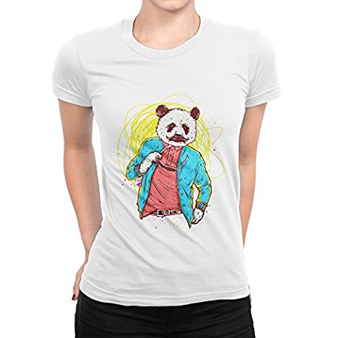 Classy Panda Acting All Casual With The Sphaghetti Behind Him Femme T-shirt L