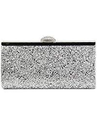 Pochette Sac à Main Rigide Style Porte-Monnaie en Paillettes Scintillant  Pour Femme 31ec3934c67