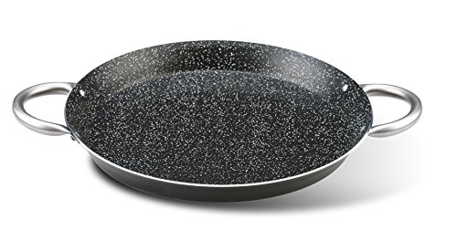Pensofal Biostone Paellera, Aluminio, Acero Inoxidable, Negro, 34 cm