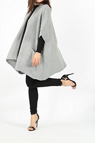 Missi - Gilet - Femme Taille Unique gris argenté