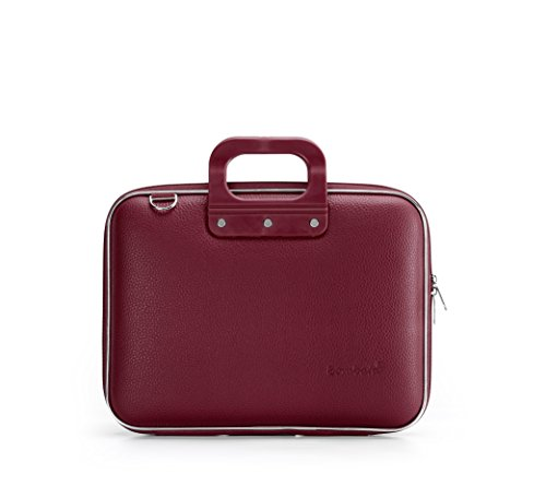 Bombata Bombata Medio Hardcase 13 inch laptoptas Burgundy Red Laptop Media