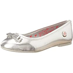 Barbie Girl's Silver Espadrille Flats - 3 UK/India (35 EU)