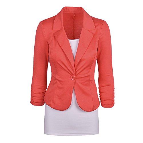 Starstreetcom Damen Blazer Gr. Etikett Small(32-34), Orange