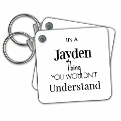 BrooklynMeme Names - Its a Jayden thing - Key Chains - set of 2 Key Chains (kc_252243_1)