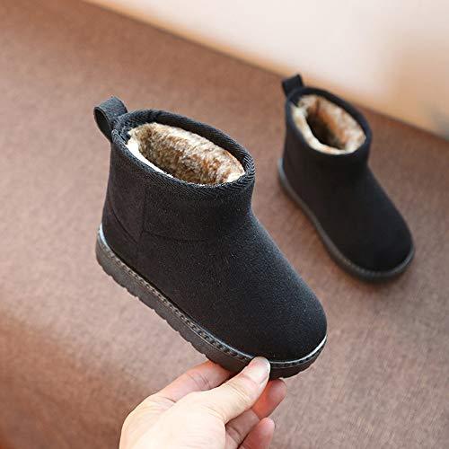 Bild von HUHU833 Kinder Baby Mädchen Schnee Stiefel Warme Einfarbig beiläufige Dicker Flock Anti-Rutsch Schnee Stiefel Warm Schuhe