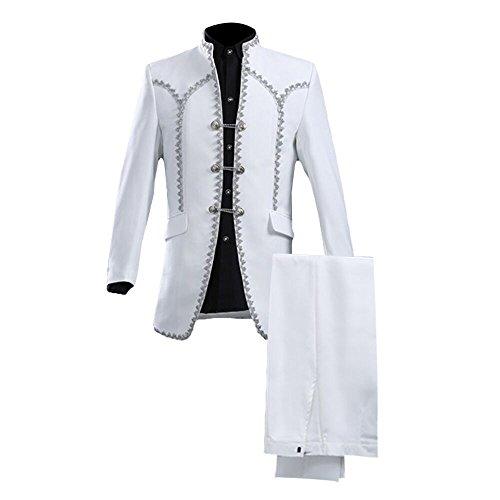 GOMY Slim Fit 2-Teilig Herrenanzug Smoking Hochzeit Party Costume Anzüge