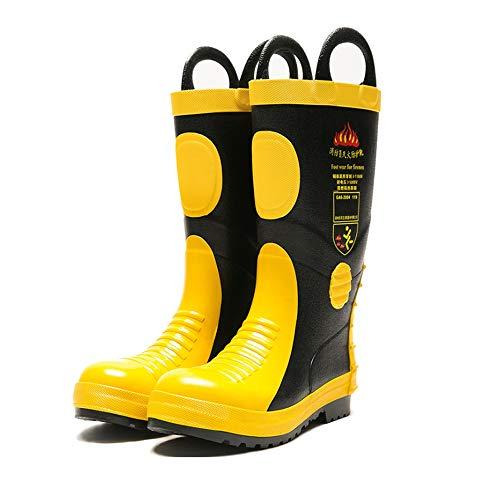 BMS Rutschfeste Stiefel für Erwachsene, Brandschutzstiefel, Brandschutzstiefel mit Stahlblechisolierung,45