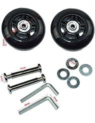 lovinstar 1 par de ruedas de repuesto, maleta, skate, ruedas, ejes,