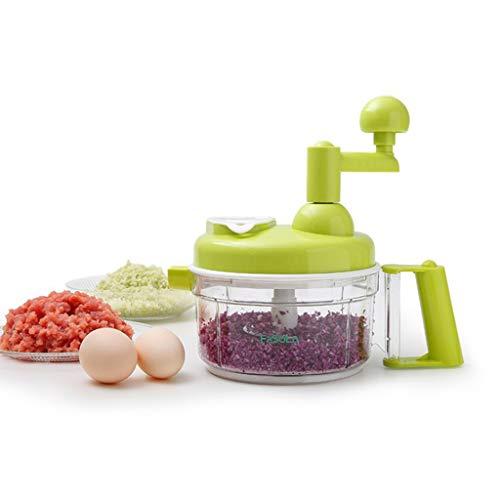 TeasyDay Multifunktionsnahrungsmittelgemüse-Zerhacker, Qualitäts-haltbares ps-ABS-Edelstahlmaterial Küchen-Schneider-Schleifgerät, gesundheitssicherer beständiger Korrosionsschutz -