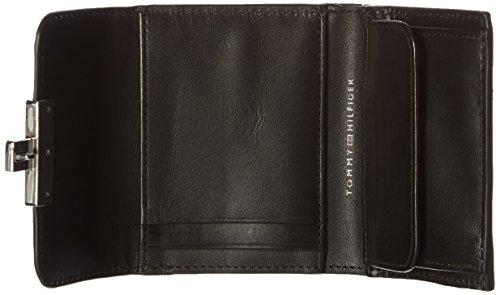 Tommy Hilfiger Damen Fashion Hardware Small Flap Wallet Geldbörse, Schwarz (Black), 2.5 x 10 x 13 cm