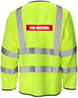 Reflective Fire Marshal High Visibility Hi Vis Viz Lightweight Jacket Safety Coat