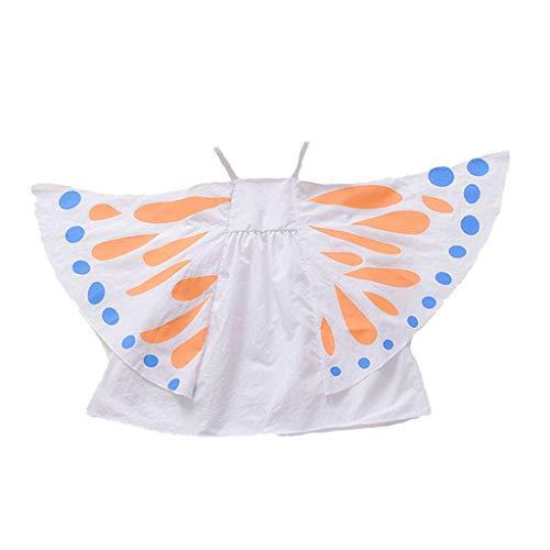 KIMODO Kleinkind Baby Mädchen ärmellose Schmetterling Drucken