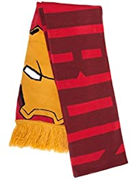 Official Marvel Team Stark vs Team Cap Knitted Scarf Football Style - One Size