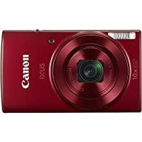 Canon IXUS 180 Digitalkamera (20 Megapixel, 10 x opt. Zoom, 4 x dig. Zoom, 6,8 cm (2,7 Zoll) LCD Display, WLAN, Bildstabilisator) rot