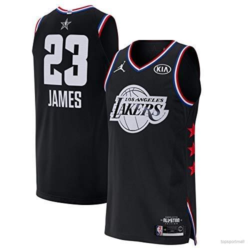 brand new 381ca d31ff Lalagofe Lebron James Nero, All Star Game 2019 Basket Canotta Maglia Jersey  Los Angeles Lakers #23, City Edition, Un Nuovo Tessuto Ricamato, Stile di  ...