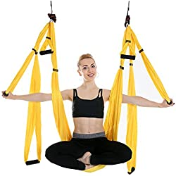 Newdoar Aerial Yoga Swing Parachute Aerial Yoga Hamac Volant Antigravité Yoga Inversion Fitness