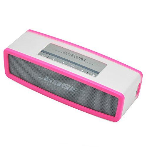 iprotect Schutzbox Abdeckung für Bose SoundLink Mini Lautsprecher Soft Cover Case in Transparent und Pink