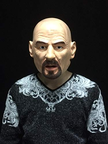Bad Kostüm Breaking Maske - Hengyutoy Mask Realistisches Cosplay Kostüm Deluxe Latex Breaking Bad Man Maske für Erwachsene