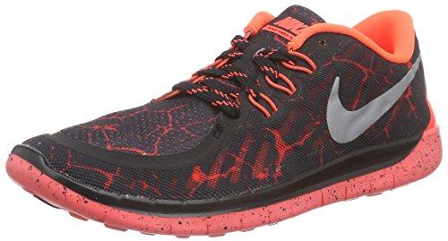 Nike Free 5.0 Lava (Gs), Chaussures de course mixte enfant Noir - Schwarz (Black/Mtllc Silver-Ttl Crmsn 006)