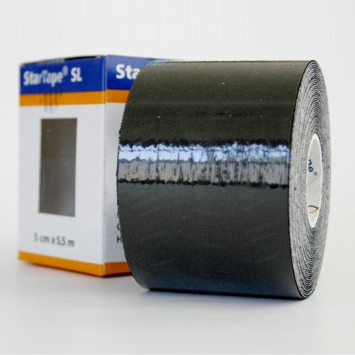 Star-Tape Kinesiologie-Tape 5,5m x 5 cm,schwarz -