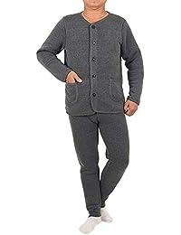 BOZEVON Conjuntos Térmicos para Hombre - Calentar Camiseta de Manga Larga y Pantalones  Largos Pijama Conjunto de Invierno Ropa… d9ac15ff1f05