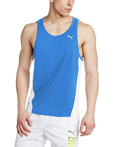 PUMA Herren Cross The Line Singlet Leibchen, Team Power Blue White, XL Preisvergleich