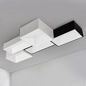 KHSKX Kreative Mode Persnlichkeit Rechteckige Wohnzimmer Lampe DIY Kombination Deckenleuchte LED Warme Minimalistische Schlafzimmer Esszimmer