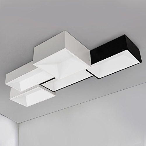 BBSLT Moda creativa rettangolare di personalità soggiorno lampada combinazione DIY lampada da soffitto lampada da (Immagine Gruppo)