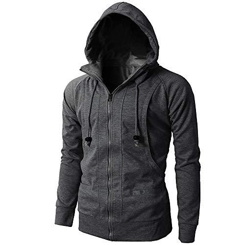 Mens' Autumn Winter Sport Zipper Hoodie Pullover Blouse -