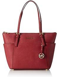 MICHAEL Michael Kors Femmes Jet Set voyage Top Zip Tote Bag Rouge
