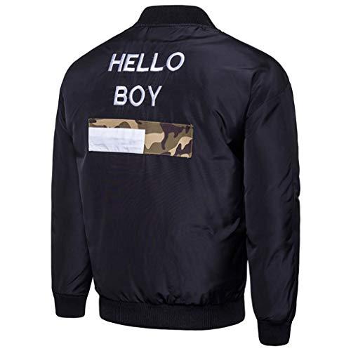 Diagonale Mantel (Setsail Herren Diagonal Zipper Wollbluse Verdickung Mantel Pullover Outwear Top Bluse)