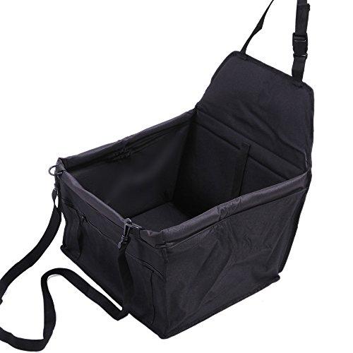 Eigener Auto-Hundesitz für kleine Hunde   Autositz-Hund 40x30x25 cm   wasserfester & sicherer Transport für Ihren Hund auf Rückbank und Beifahrersitz   Farbe Schwarz von AGIA TEX